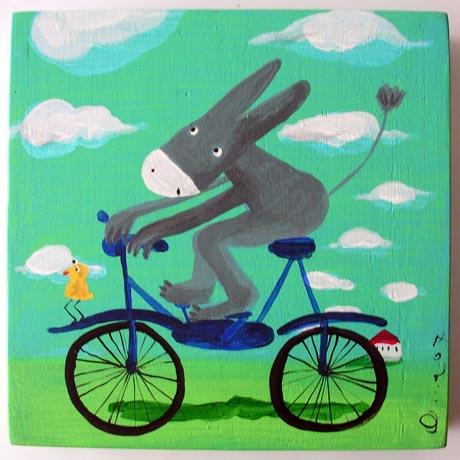 00002 - Asino in bicicletta