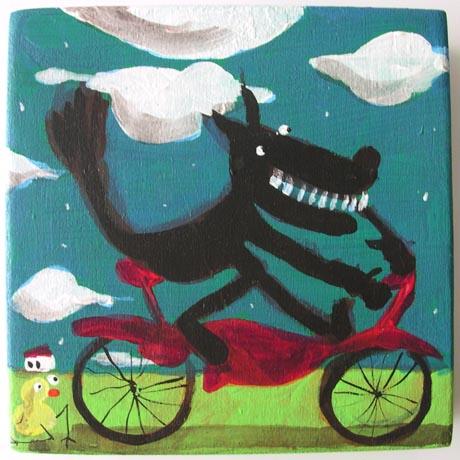 0007 - Lupo in bici